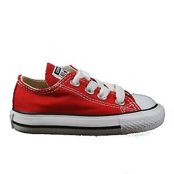 Converse Chuck Taylor All Star Classic Toddler 7J236C Red Canvas Lace Up Sneaker Shoes