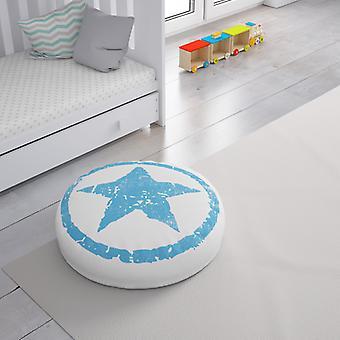 Meesoz Floor Cushion - Grunge Stars Blue