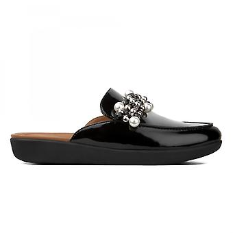 FitFlop Sereno Deco Ladies Mule Loafers Preto