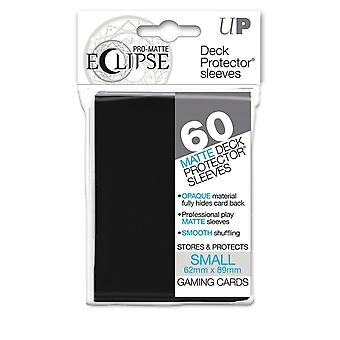 Pro-Matte Eclipse Black Small Deck Protector sleeves 60ct (Pack of 12)