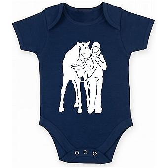 Body neonato blu navy fun1868 horse rider