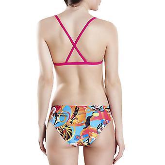 Speedo Womens Flipturns Crossback zweiteilige Schwimmen Bikini Schwimmen Badeanzug