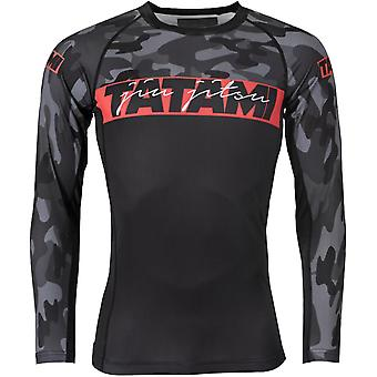Tatami Fightwear Red Bar Camo Long Sleeve Rashguard - Camo