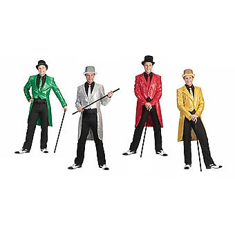 Showman Tuxedo Frack Costume Hommes Hit Star Dandy DancerMen's Costume