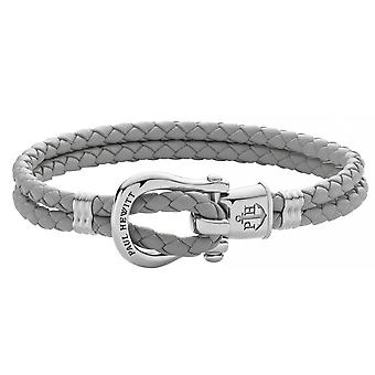 Paul Hewitt Ph-FSH-L-S-GR Bracelet - Steel PHINITY SHACKLE Mixed Grey Leather