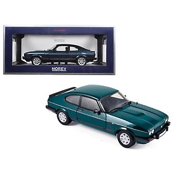 1986 Ford Capri 280 \Brooklands\ Green Metallic Limited Edition to 1038pcs 1/18 Diecast Model Car by Norev
