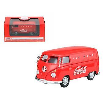 1962 Volkswagen Coca Cola Cargo Van Red 1/43 Diecast Model par Motorcity Classics