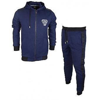Klasa Cavalli Olimpic bawełny Slim Fit elastyczne Logo Navy dres