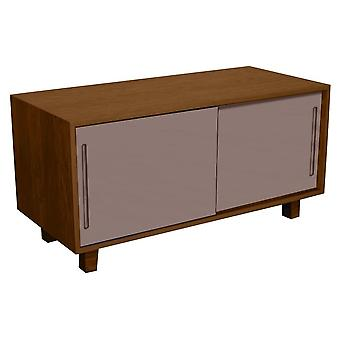 Fusion Living Modern Retro Walnut And Grey TV Table