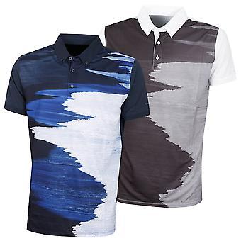 Wolsey Mens Shoreline Print Lightweight Breathable Golf Polo Shirt