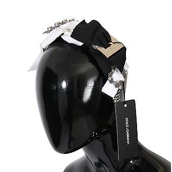 Dolce & Gabbana Clear Crystal Silk Bow Headband