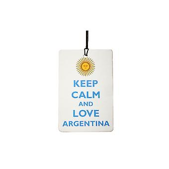 Keep Calm And Love Argentina Car Air Freshener