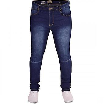 Island Trading Mens Island Trading Ripped Slit Knee Rip Skinny Stretch Fit Jeans Distressed Denim