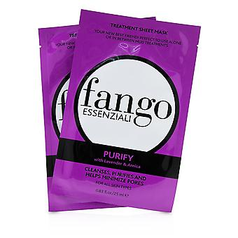 Fango Essenziali Purify Treatment Sheet Masks 4x25ml/0.83oz