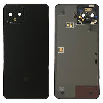 Google Battery Cover for Pixel 4 Black Just Black Battery Cover Spare Part Backcover Lid Battery