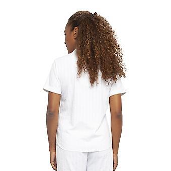 Cyberjammies 4470 Kvinnor & apos; s Sasha White Randig Bomull Pyjama Top