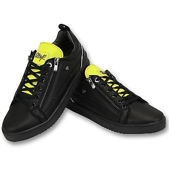 Sneakers - Maximus Black Yellow - Zwart