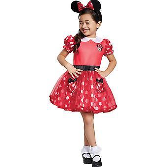 Rote Minnie Maus Kleinkind Kostüm