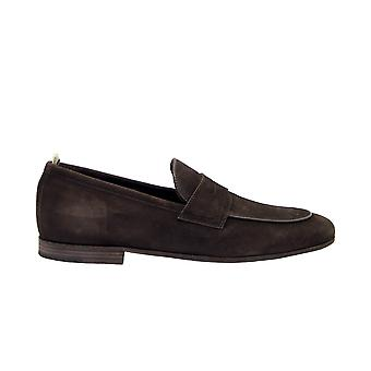 Officine Creative Byron001brw Men's Brown Suede Loafers