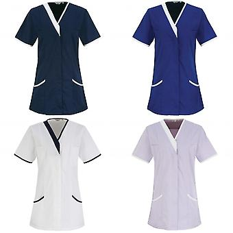 Premier Womens/Ladies Daisy Healthcare Work Tunic (Pack of 2)