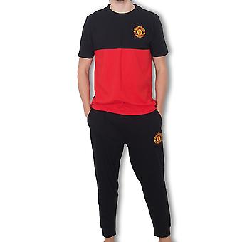 Manchester United FC Official Football Gift Mens Premium Lange Pyjama's Set