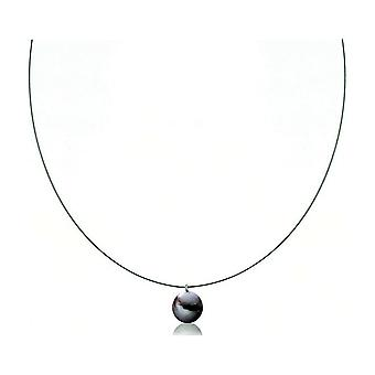 Luna-Pearls Necklace Silver rhod. 925 Freshwater Breeding Pearl Ming 10-10.5mm