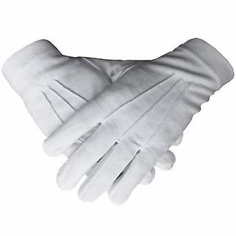 Masonic regalia 100% cotton white gloves plain