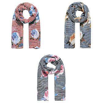 Jewelcity Womens/Ladies Stripe Meadow Bloemenprint Sjaal