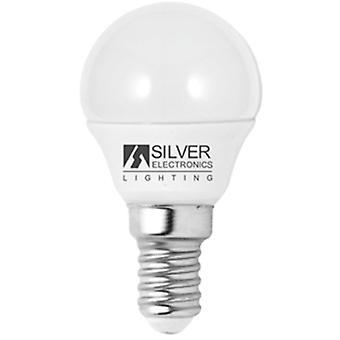Sfärisk LED-lampa Silver Elektronik Eco E14 5W Vitt ljus/6000K