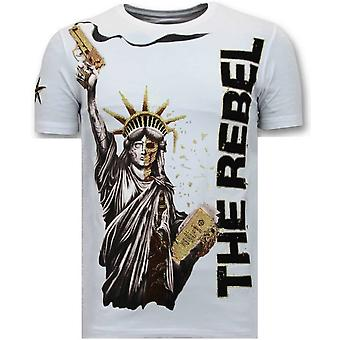 T-shirt - The Rebel - Biały