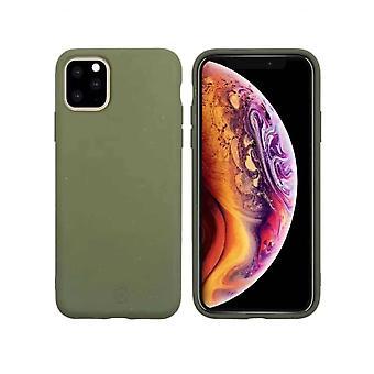 Muvit Bambootek ECOCase Hoesje iPhone 11 Pro Max - Moesgroen