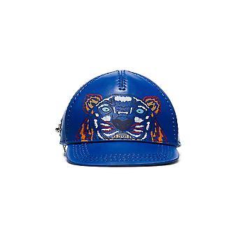 Kenzo Ezcr009004 Women's Blue Leather Hat