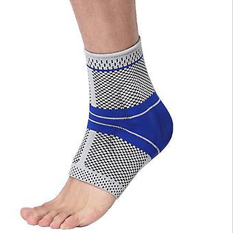 Protezione elastica della caviglia - Grigio/blu