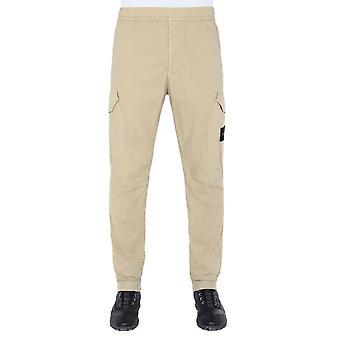 Stone Island 7215312wav0193 Men's White Cotton Pants