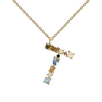 Pdpaola Women's Letter T Plated Necklace