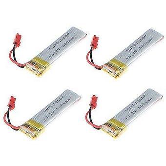 4 Pieces lipo battery 3.7v 600mah rc drones hear u817 u817c u817a u818a wltoys v959 v969 v979 v212 v222 rc