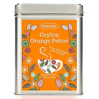 Praana Tea - Ceylon Orange Pekoe Black Tea - Gift Tin - 100g Loose Tea