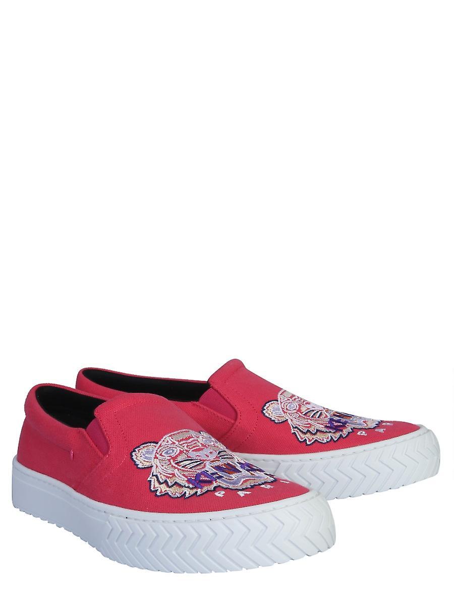 Kenzo F962sn200f7027 Women's Fuchsia Nylon Slip On Sneakers