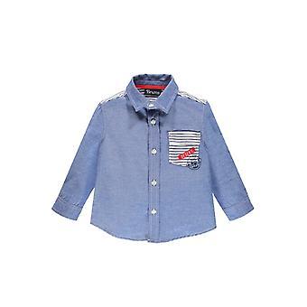 Brums Milano Chambray paita raidallinen sisävuori