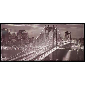W.A. 3D Wall Art Brooklyn Bridge New York Black White Framed Lenticular Picture
