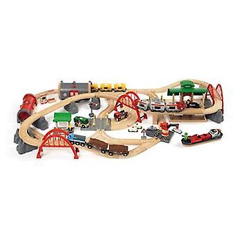 ブリオ - デラックス鉄道セット 33052 87 ピース木製鉄道セット - 偉大な値