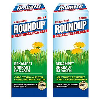 Sparset: 2 x ROUNDUP® Lawn Weed-Free, 500 ml