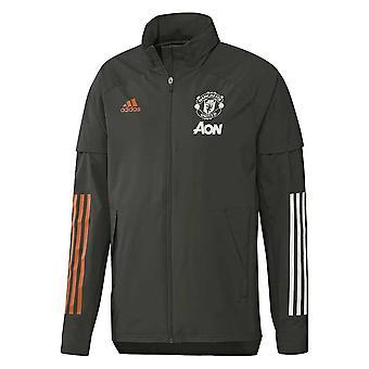 2020-2021 Man Utd Adidas Allweather Jacket (Green)
