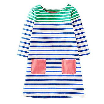 Long Sleeve Princess Tunic Jersey Dress, Stripey Design, Infant