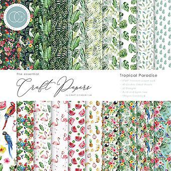 Craft Consortium Essential Craft Papers 6x6 Tommer Papir Pad Tropisk Paradise