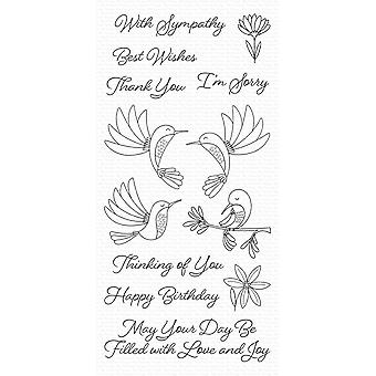 My Favorite Things Happy Hummingbirds Clear Stamps