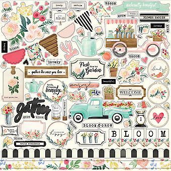 Carta Bella Flower Market 12x12 Inch Element Sticker