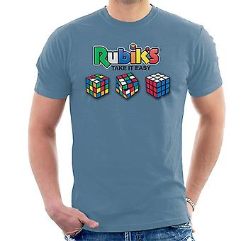 Rubik's Take het gemakkelijk mannen T-shirt