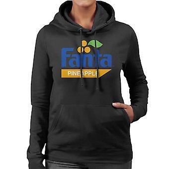Fanta Pineapple Retro 1980s Logo Women's Hooded Sweatshirt