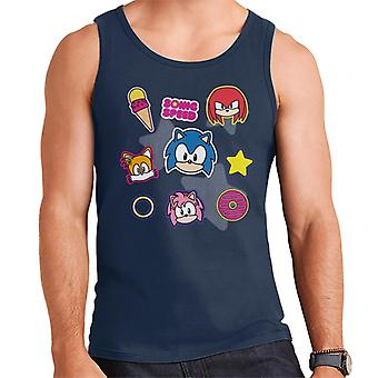 Sonic The Hedgehog Speed Cute Patches Men's Vest